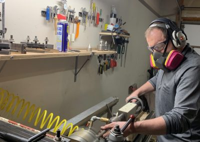 Me on the coring lathe
