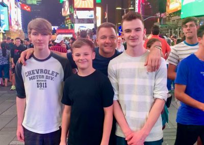 My boys and I on vacation in New York City!
