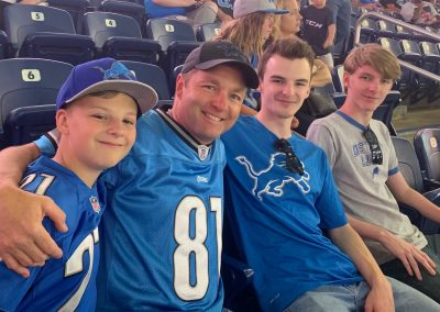 The boys and I at a Lions game...will they EVER win a game?